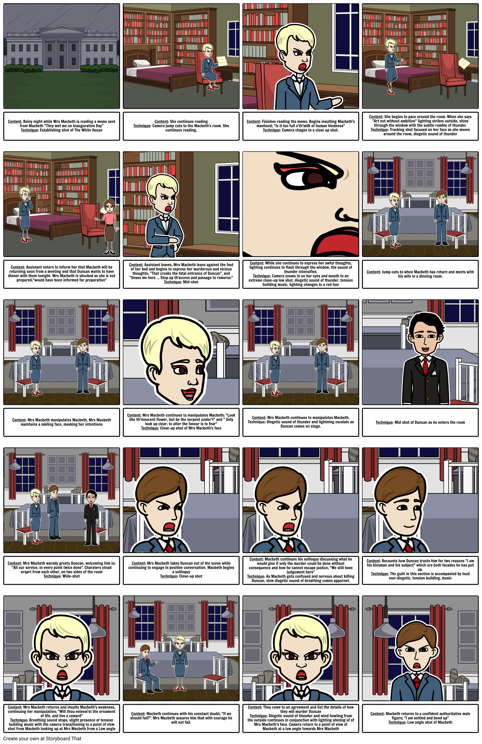 English Act 1 Scene 5 Story Board
