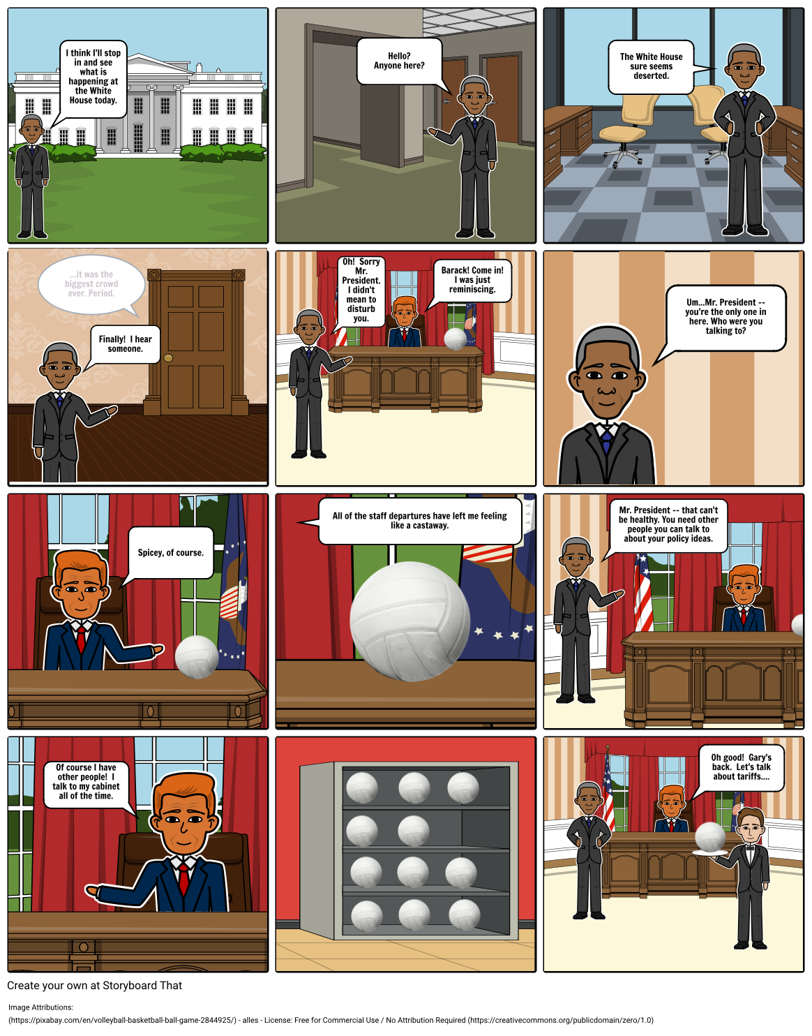 Empty White House