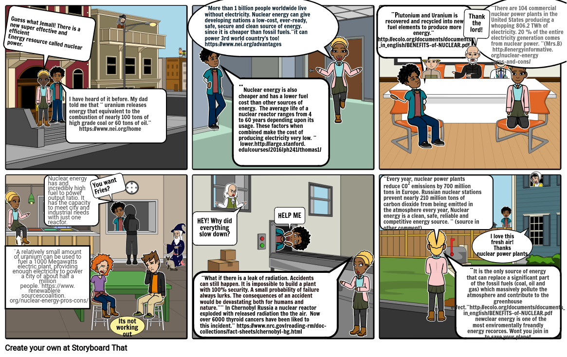 Jasmine And Emalls Talk On Nuclear Energy Storyboard
