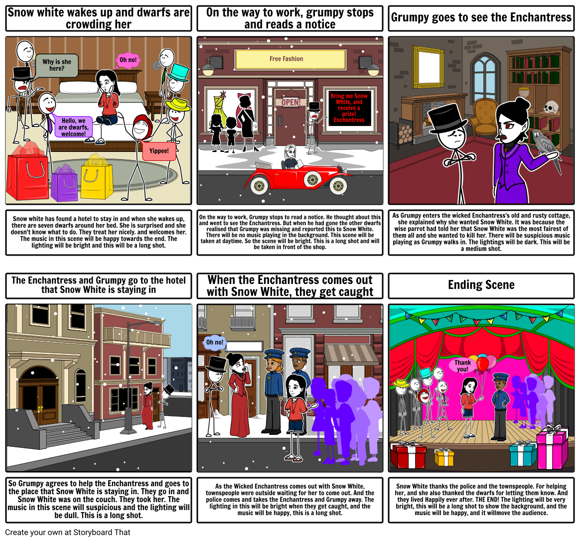 English storyboard assignment Storyboard by megha_7007