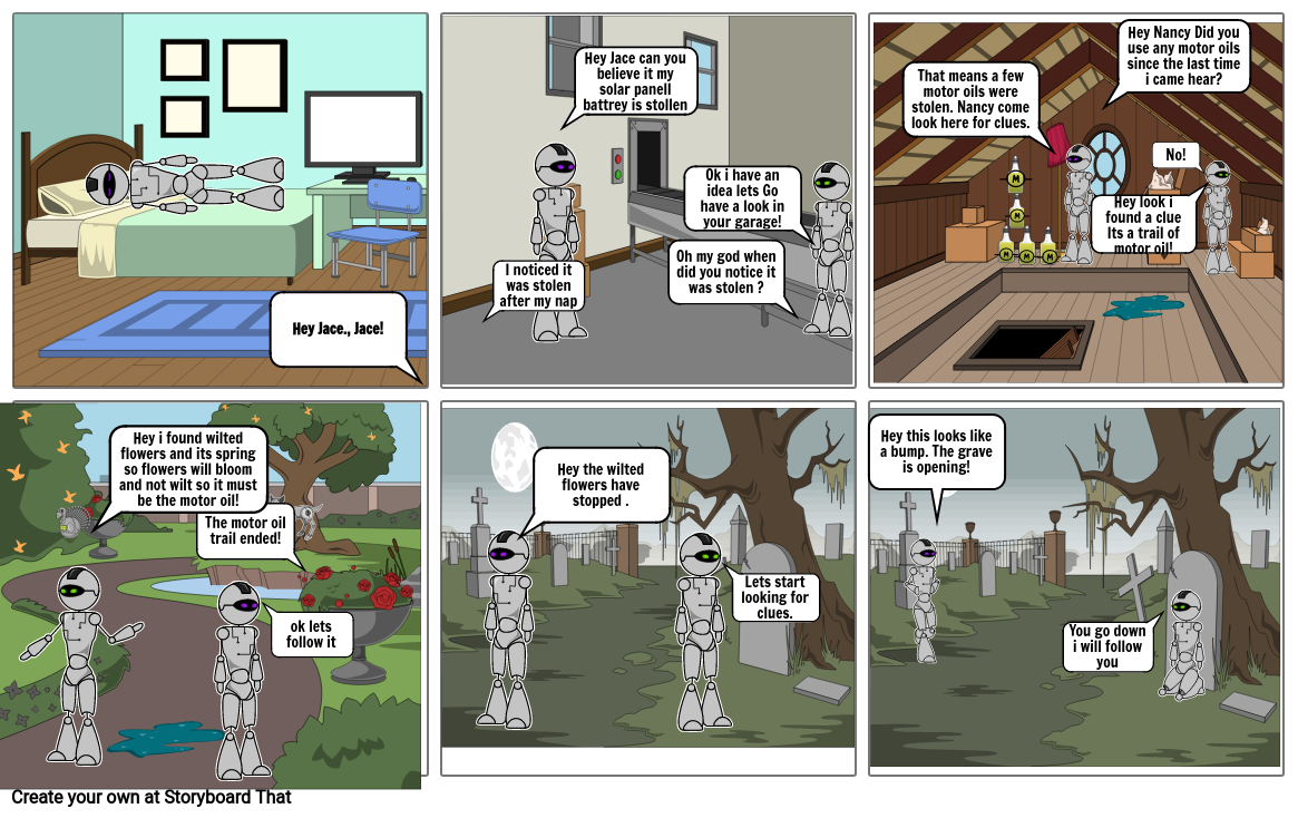 A robot's day out