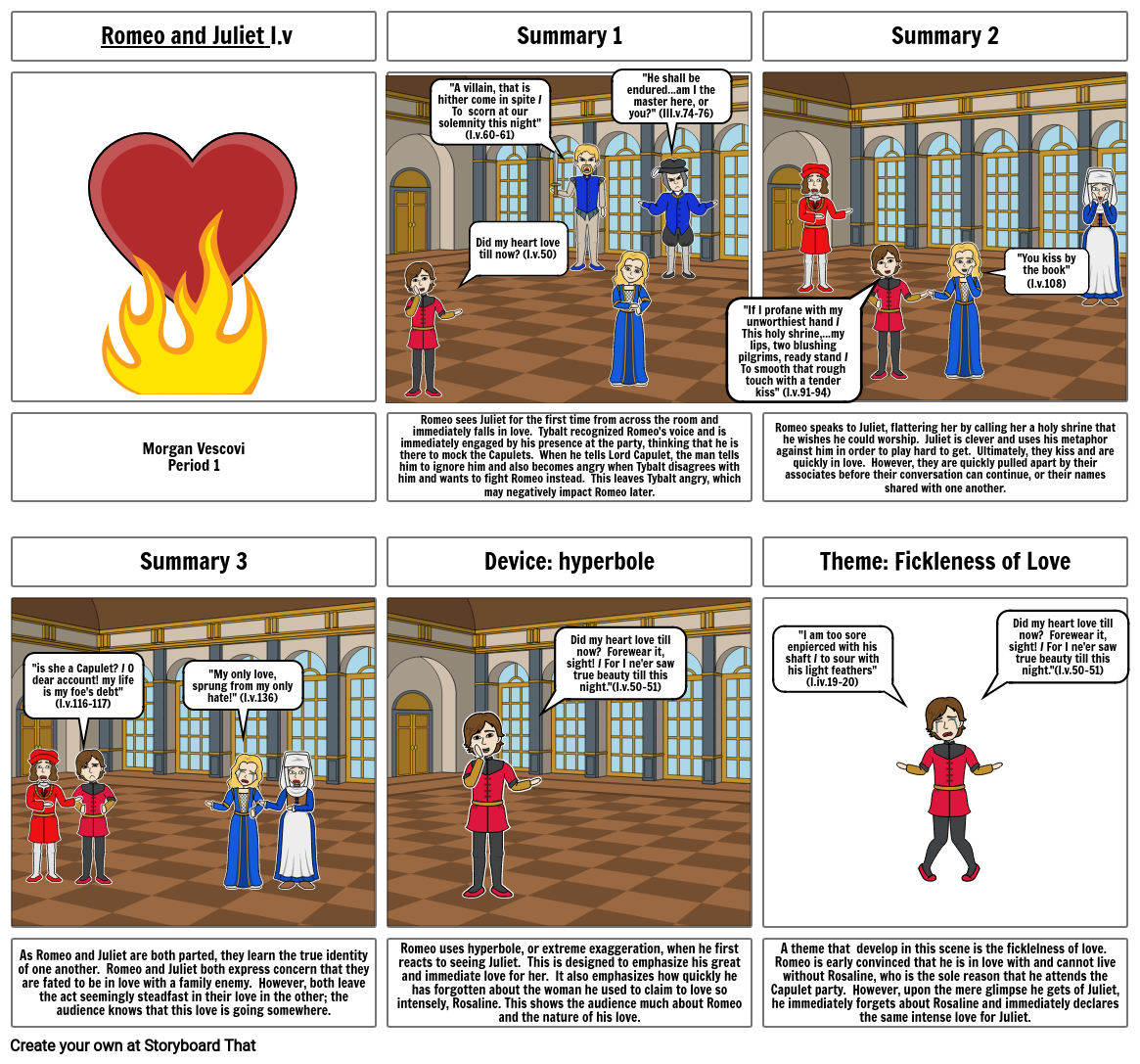 Romeo and Juliet Act III Project
