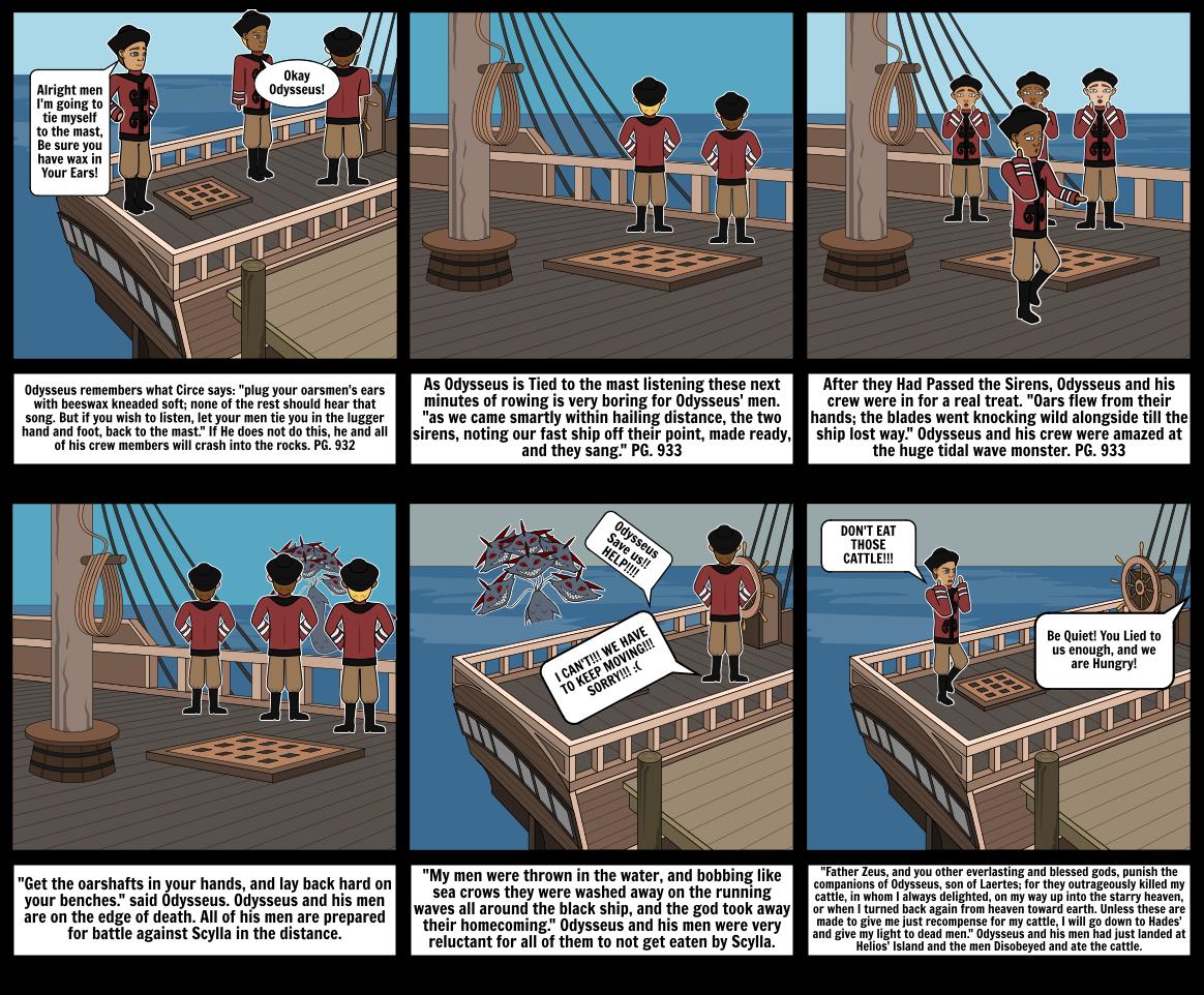 The Odyssey Story Board