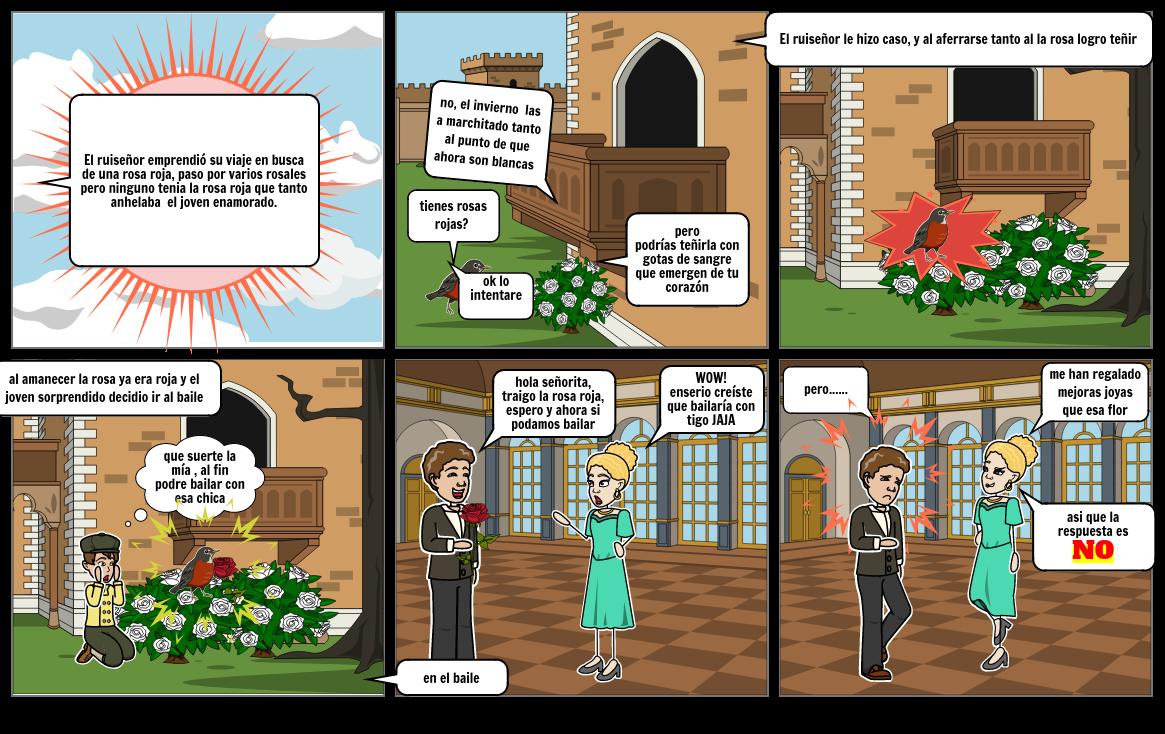 el ruiseñor y la rosa, parte 2 Storyboard by monkey_27