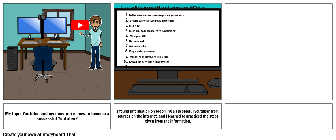 comic strip of inquiry project