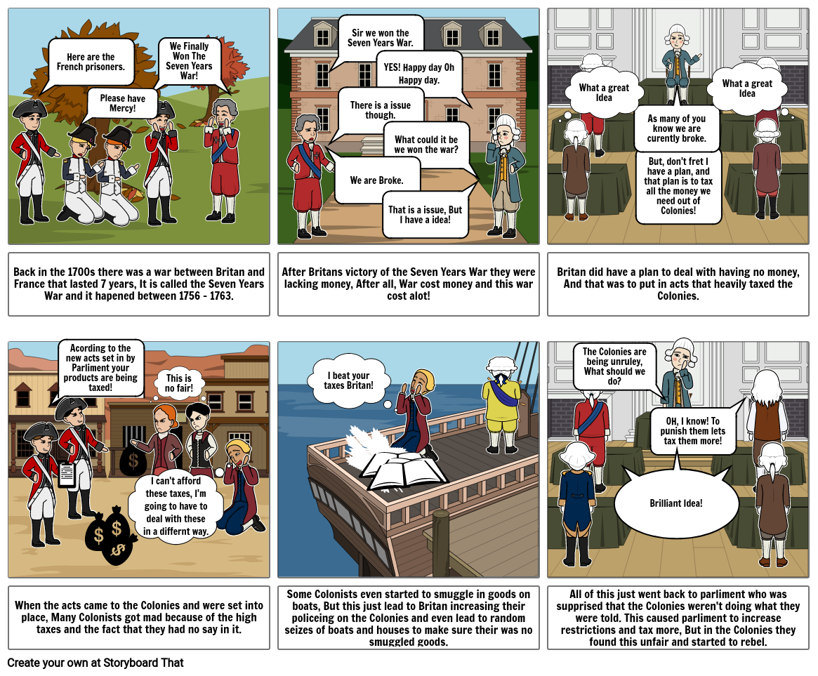Taxation without Representation (Britian's Veiw)