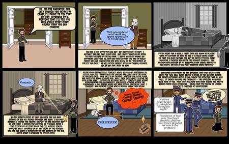 The Tell-Tale Heart - A Comic Strip Retelling