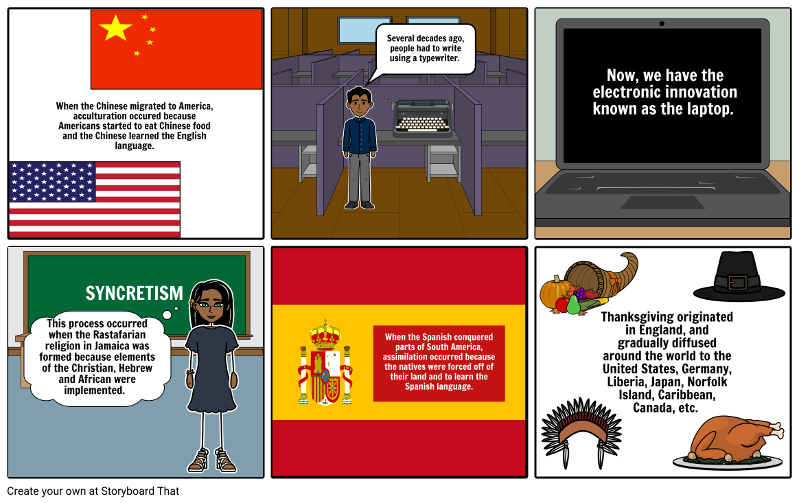 Cultural Changes Storyboard