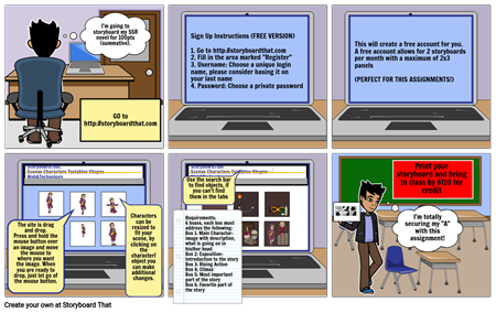 SSR Book Review Storyboard