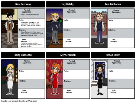 Great Gatsby characters