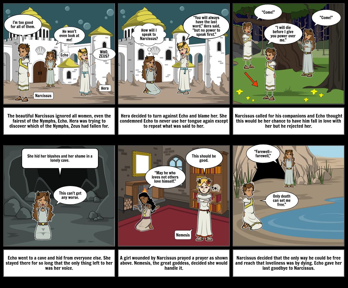 Greek Mythology Storyboard