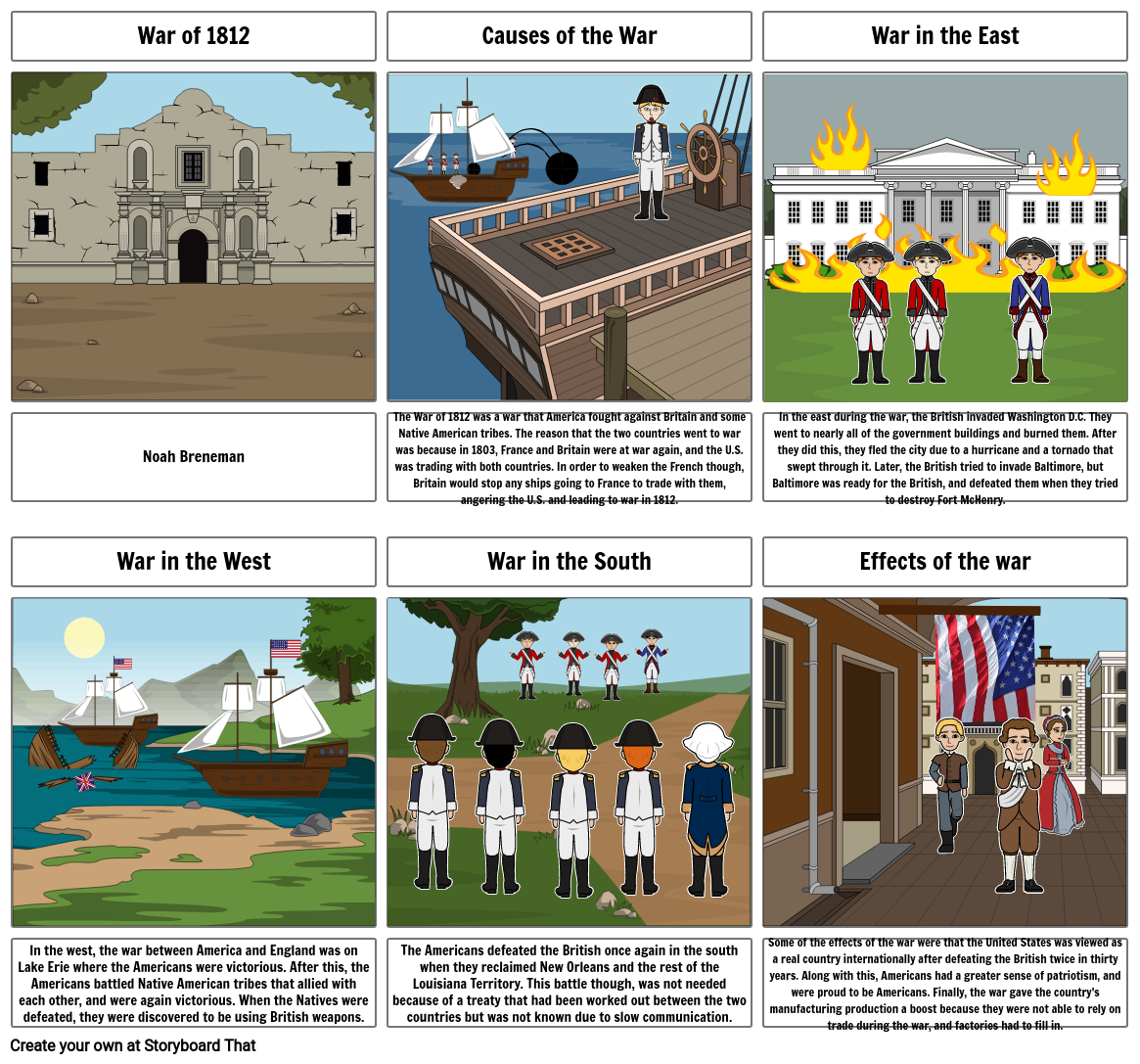 War of 1812 Storyboard