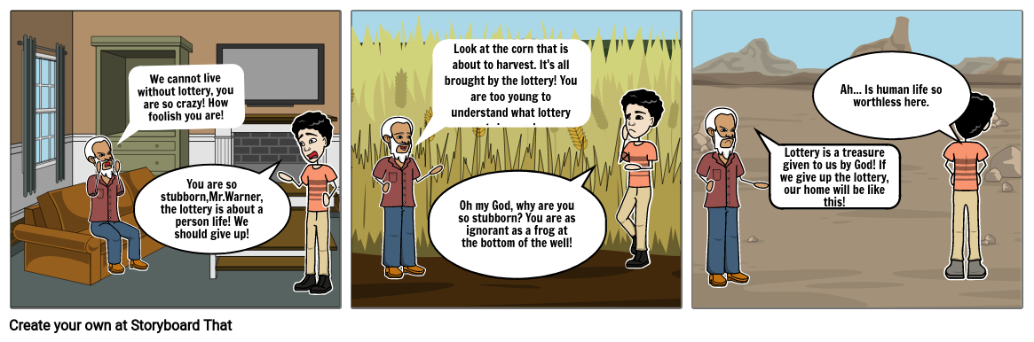 The Lottery Storyboard
