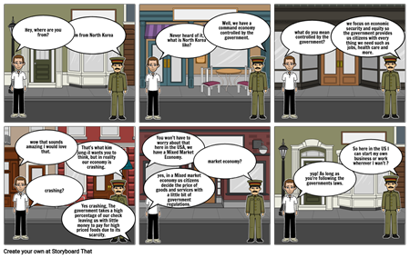 economic project storyboard