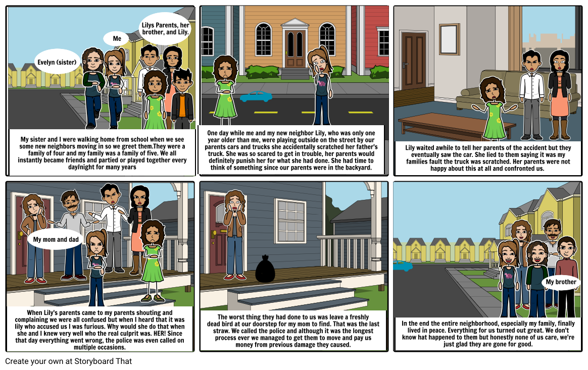 """""""My Horrible Neighbors""""-By Nataly Alanis"""