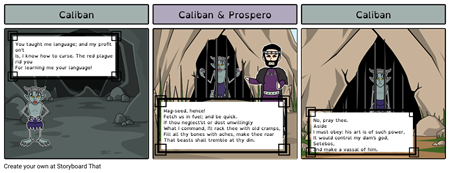 The Tempest - Caliban & Prospero