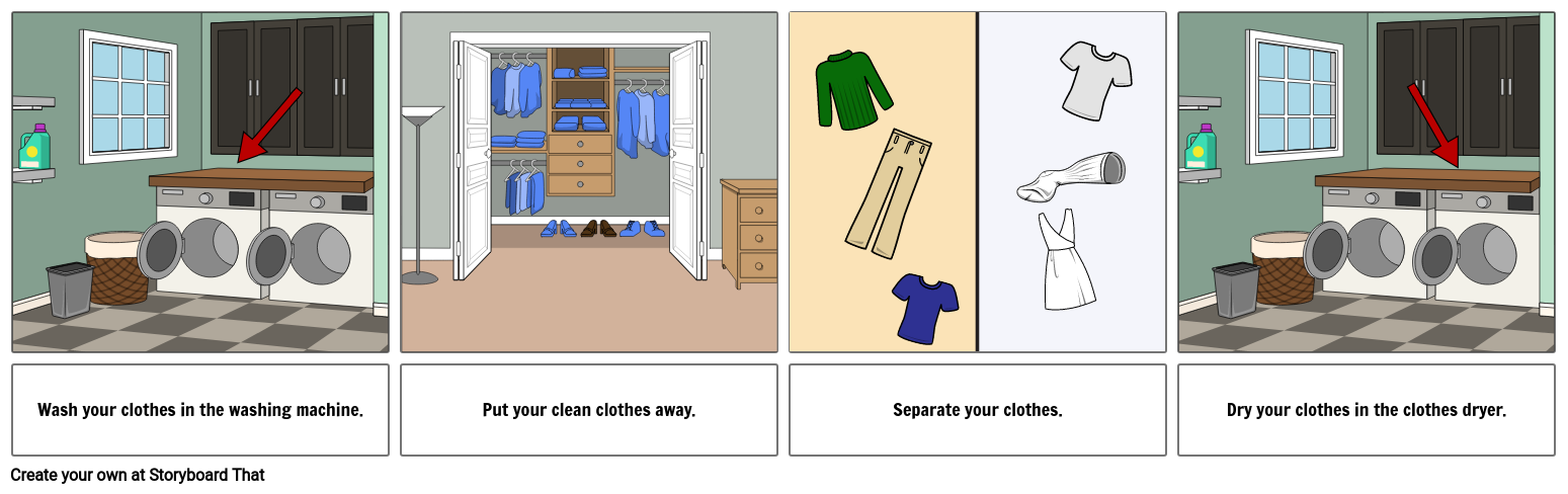 First... Last Example - Washing Clothes