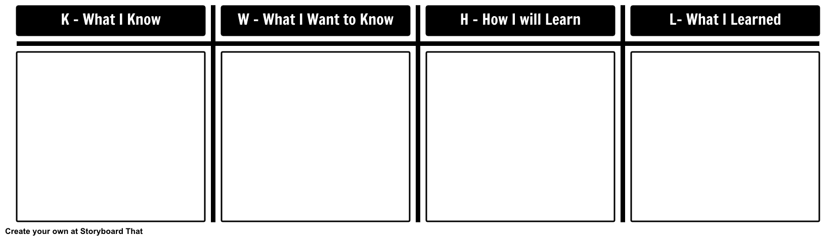 image relating to Free Printable Kwl Chart named KWL Chart Template Image Organizer Templates KWHL Chart