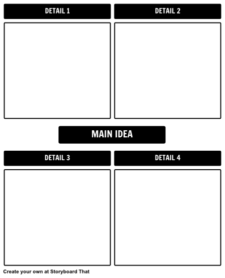 Main Idea/ Details Template