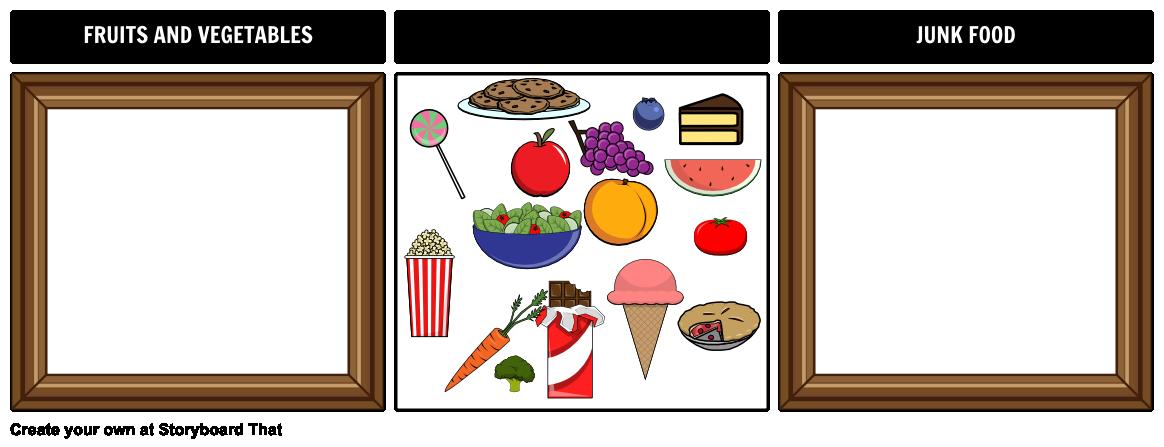 Sorting Board Example - Junk Food