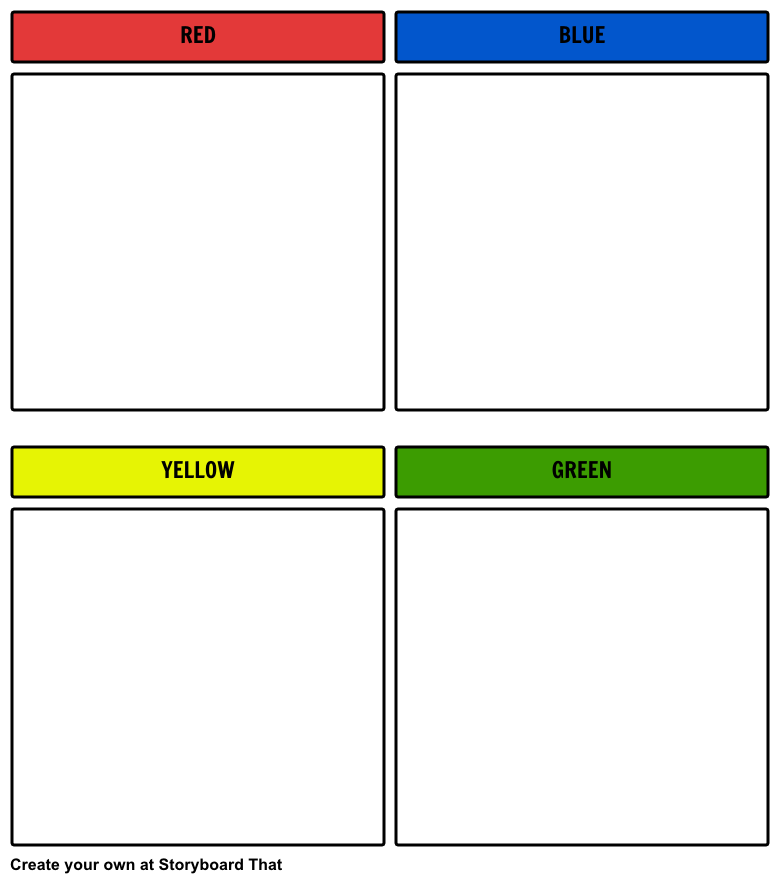 Sorting Board Printable Colors Example