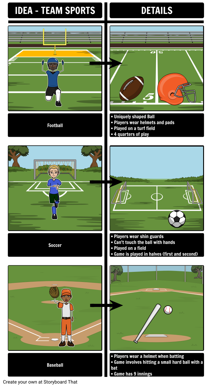 Team Sports - Brainstorming