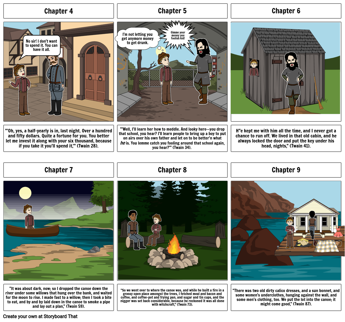 Huckleberry Finn Storyboard Review