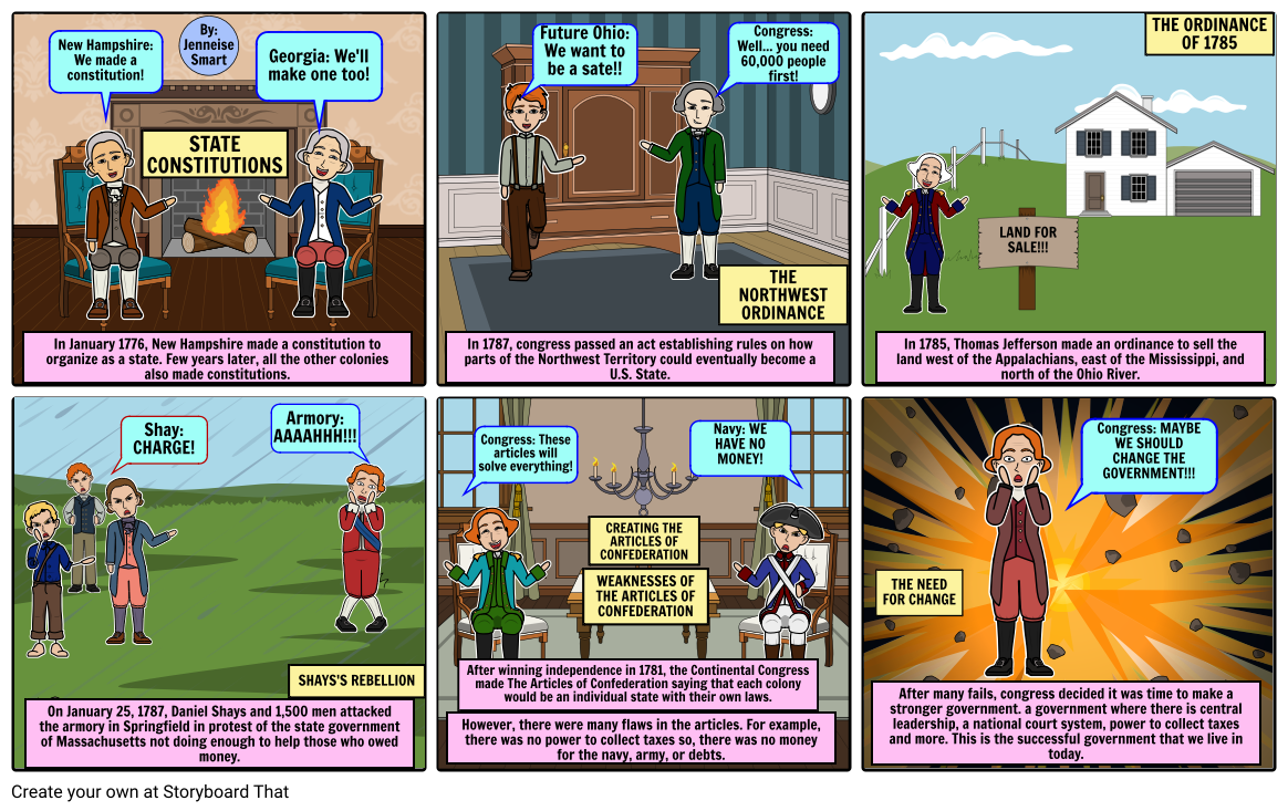 """""""Is This Any Way To Run A Country?"""" Articles Of Confederation Comic Strip"""