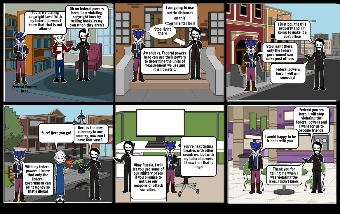 Superhero federal civics project