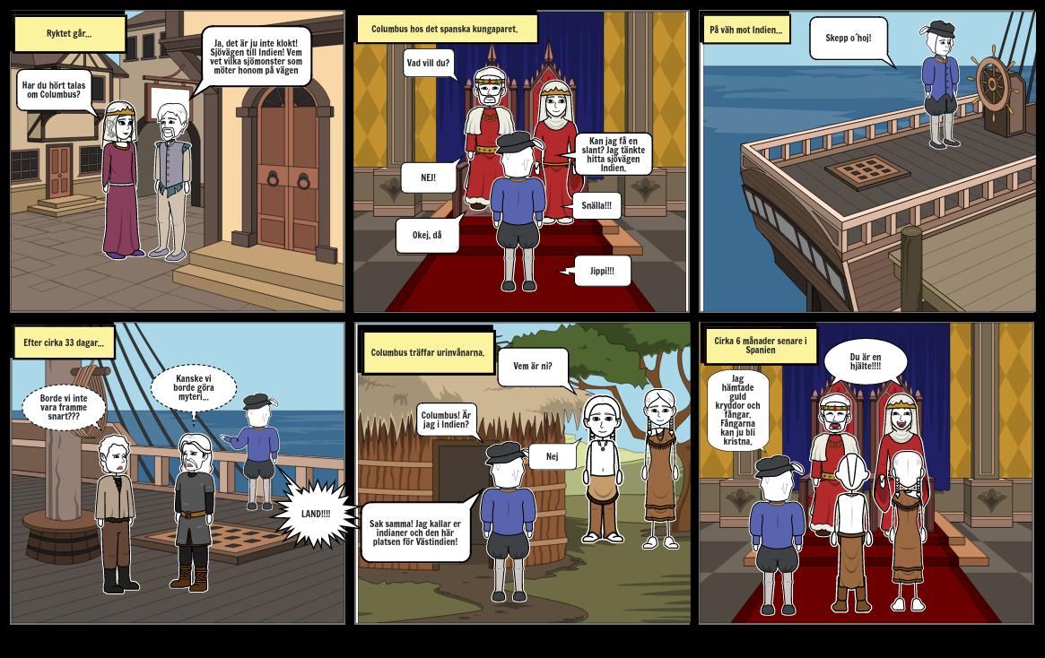 Columbus försöker hitta sjövägen till Indien