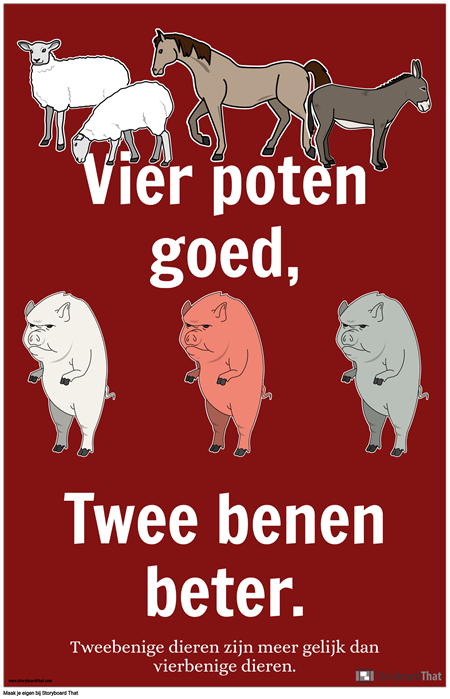 Animal Farm Propaganda Poster