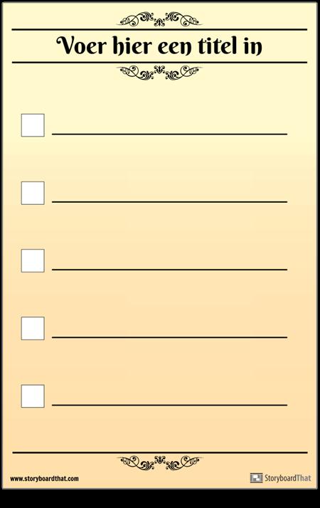 Basic 5 Controlelijst