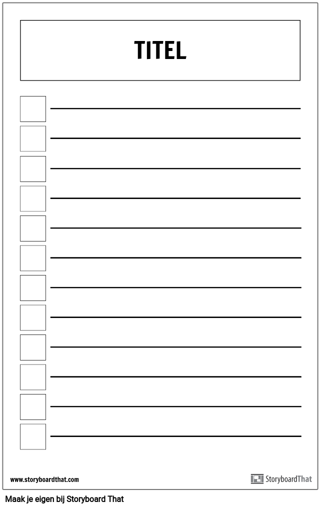 Basic Checklist Poster