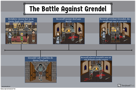 Beowulf Battle Sequence Poster