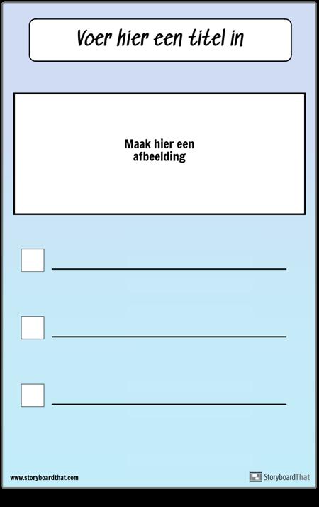 Checklist met afbeelding