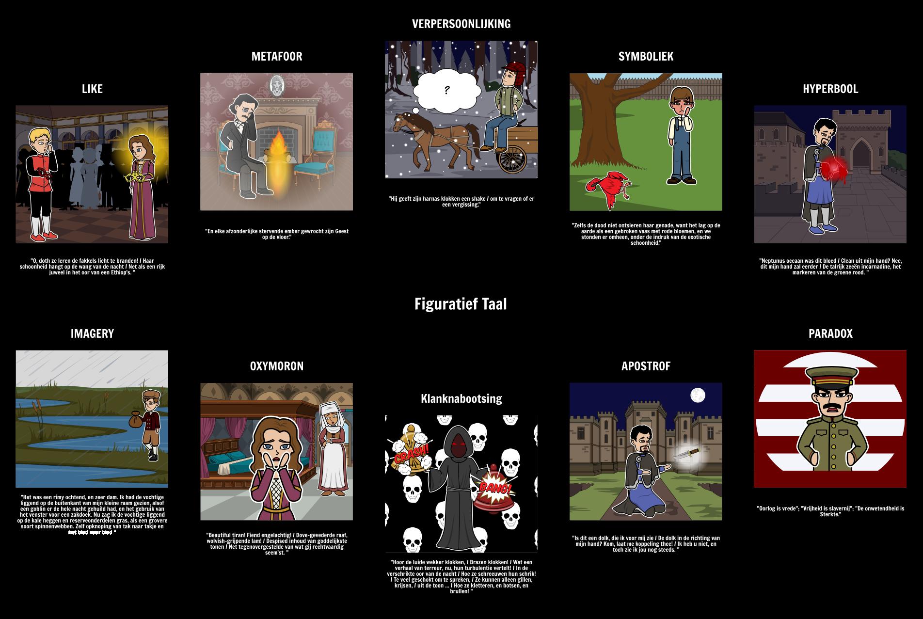 Figuratief Taal Voorbeelden