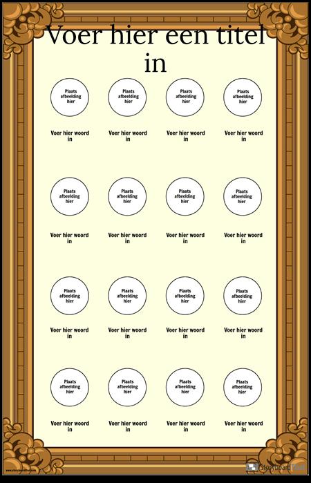 Ingelijste Visuele Vocabulaire Poster