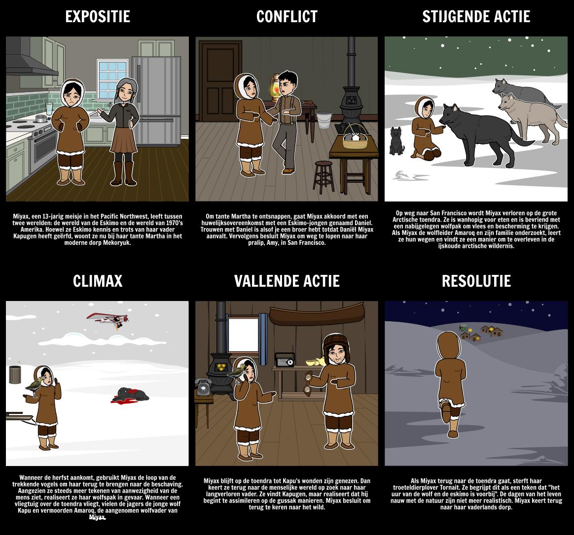 6cd0f3e182a Julie van het Wolven Plot Diagram Storyboard Door nl-examples