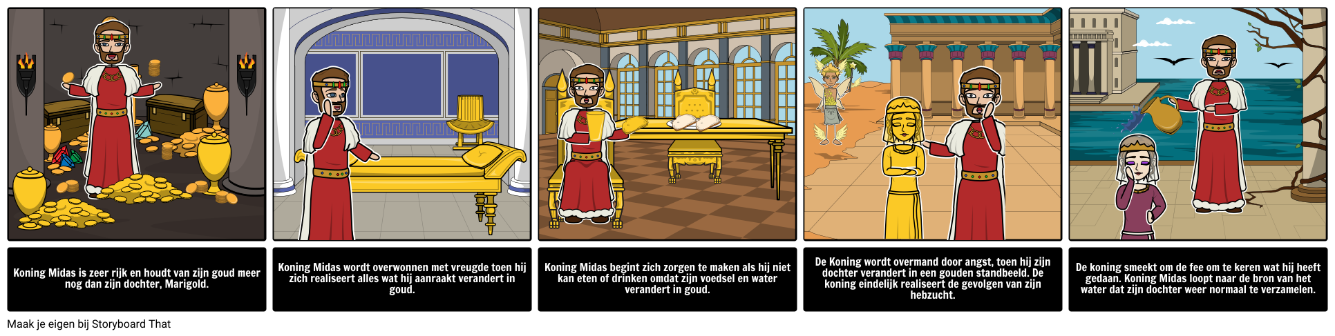 Koning Midas 'Golden Touch Character Analysis