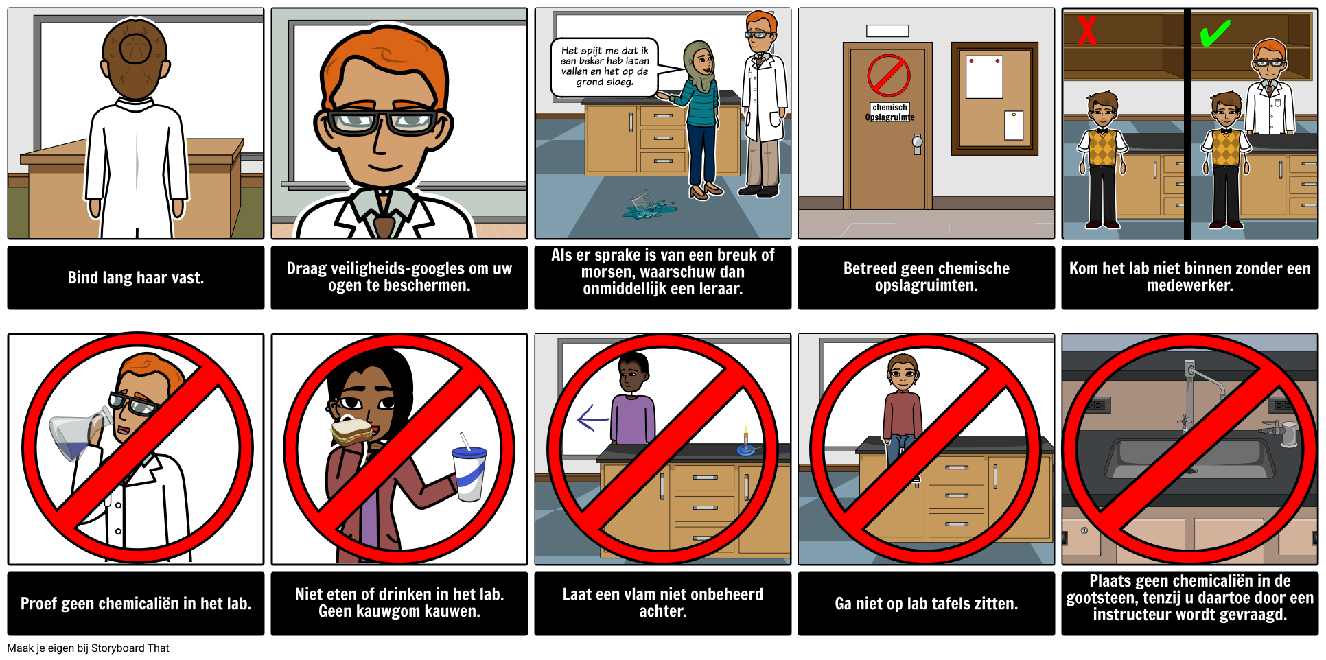 Lab Veiligheidsvoorschriften