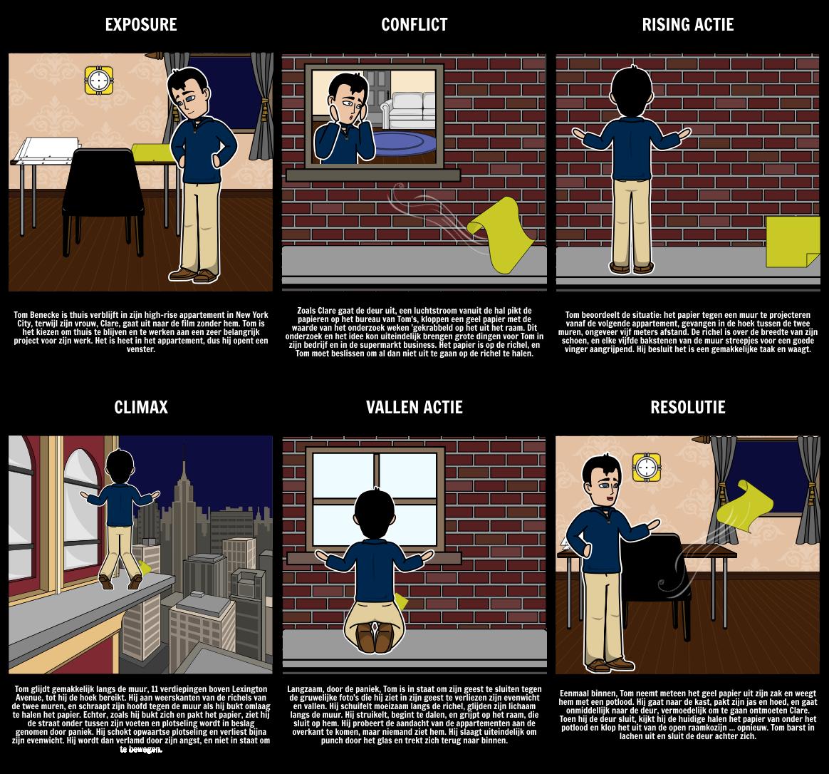 Plot Diagram Voor de Inhoud van de Zakken van de Dead Man's