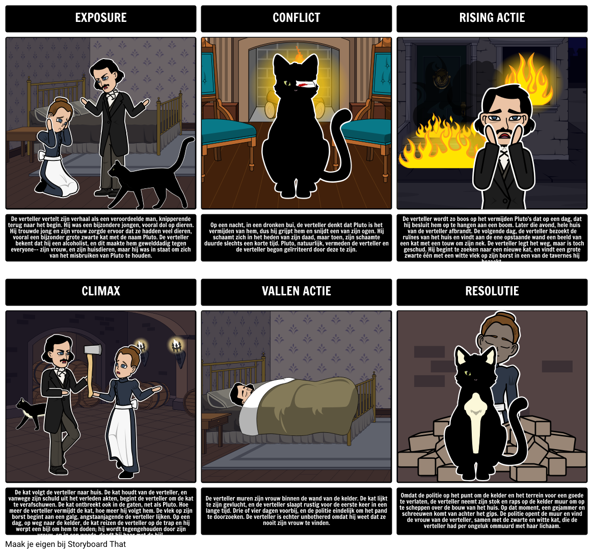 Plot Diagram Voor The Black Cat