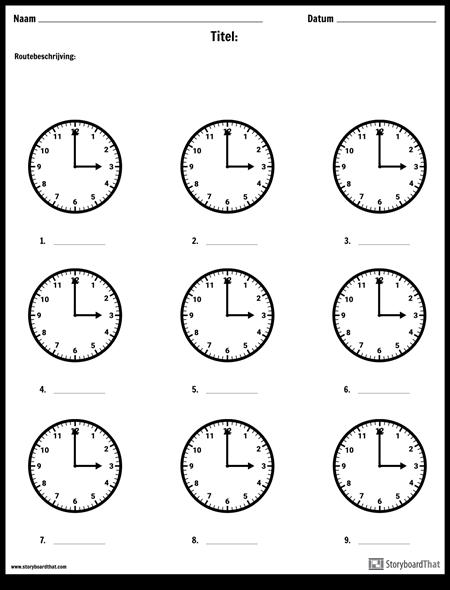 Schrijf de Tijd