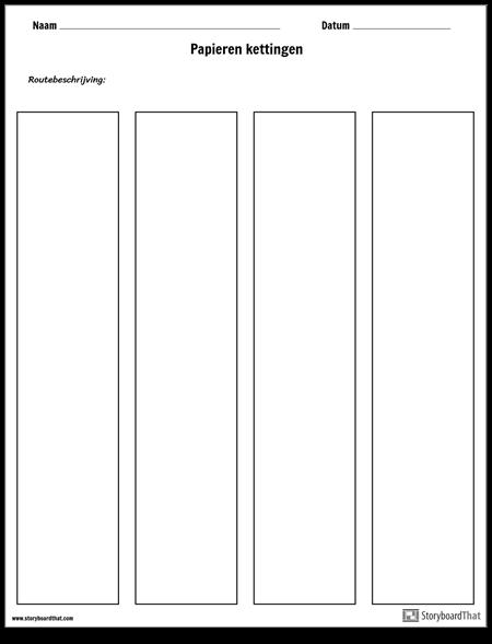 Sjabloon Voor Papieren Kettingen