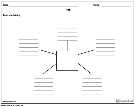 Spider kaart met lijnen - 5