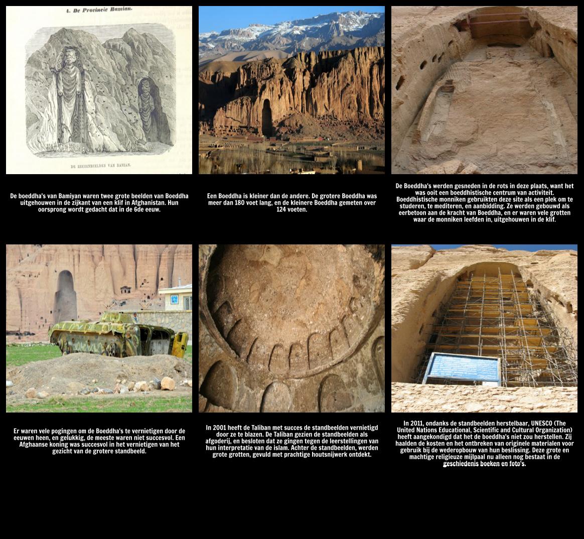 "Verbinding maken met het thema van ""Ozymandias"": De Bamiyan Buddhas"