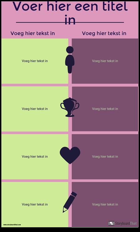 Vergelijking Infographic Template
