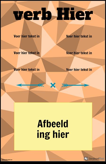 Verticale Werkwoordvervoeging Poster