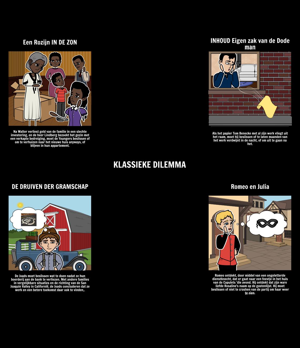 Voorbeelden van Classical Dilemma's in Literature