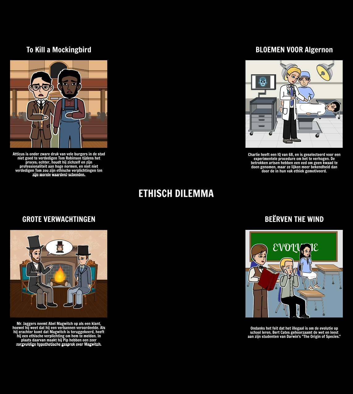 Voorbeelden van Ethische Dilemma's in Literature